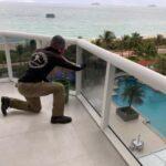 balcony window cleaning